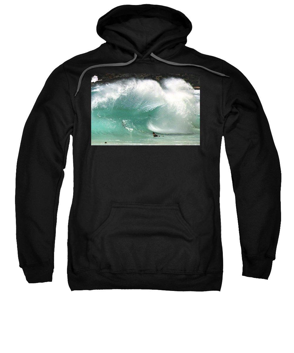 Hawaii Sweatshirt featuring the photograph Sandy Beach Shorebreak by Kevin Smith