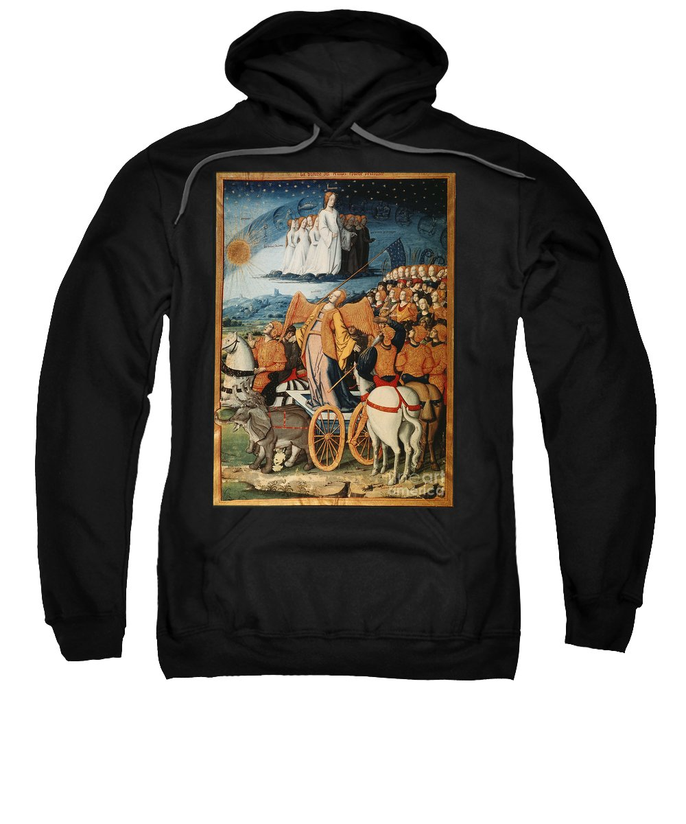 14th Century Sweatshirt featuring the painting Illumination: Petrarch by Granger