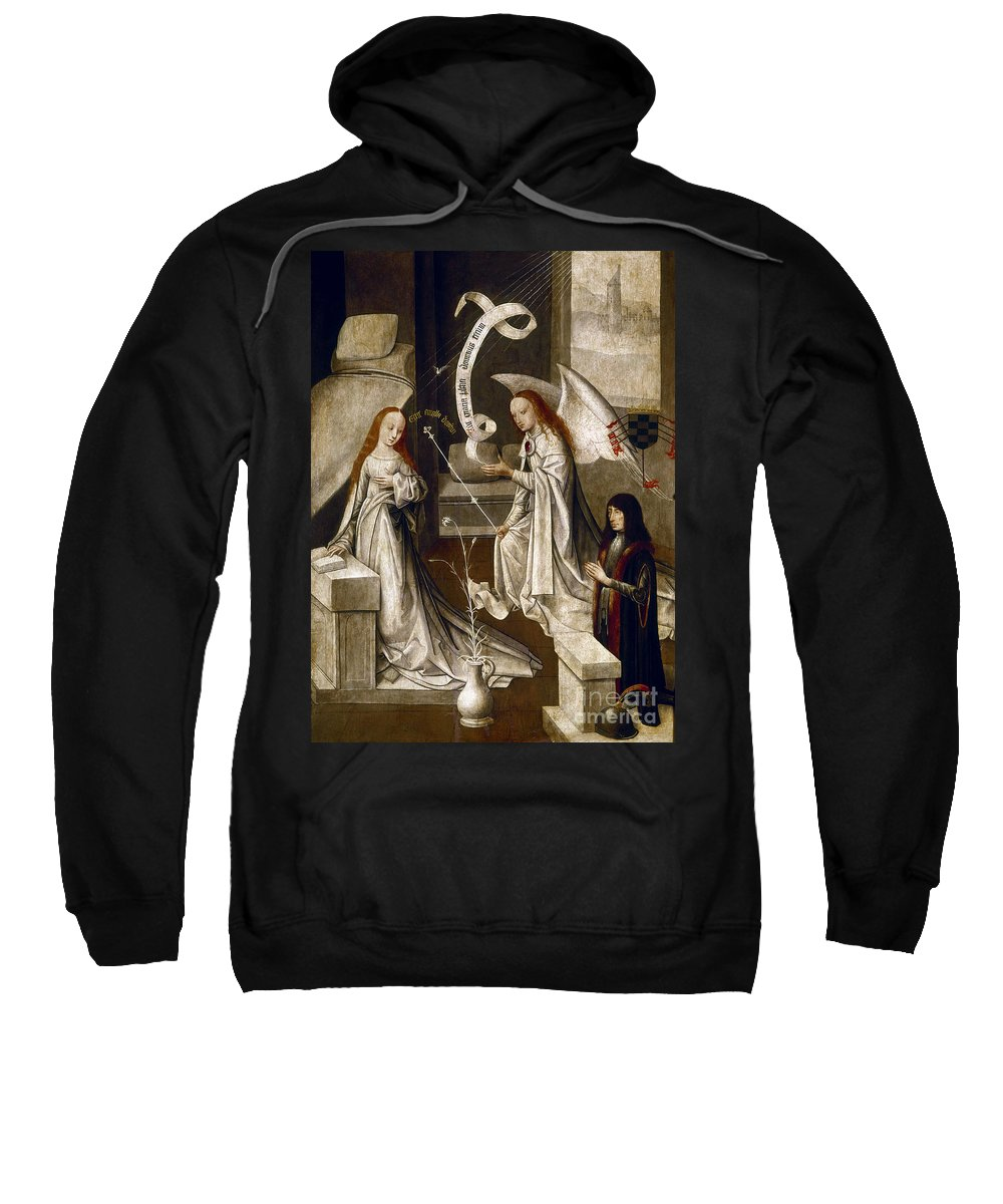 1470 Sweatshirt featuring the painting Spain: Annunciation, C1500 by Granger