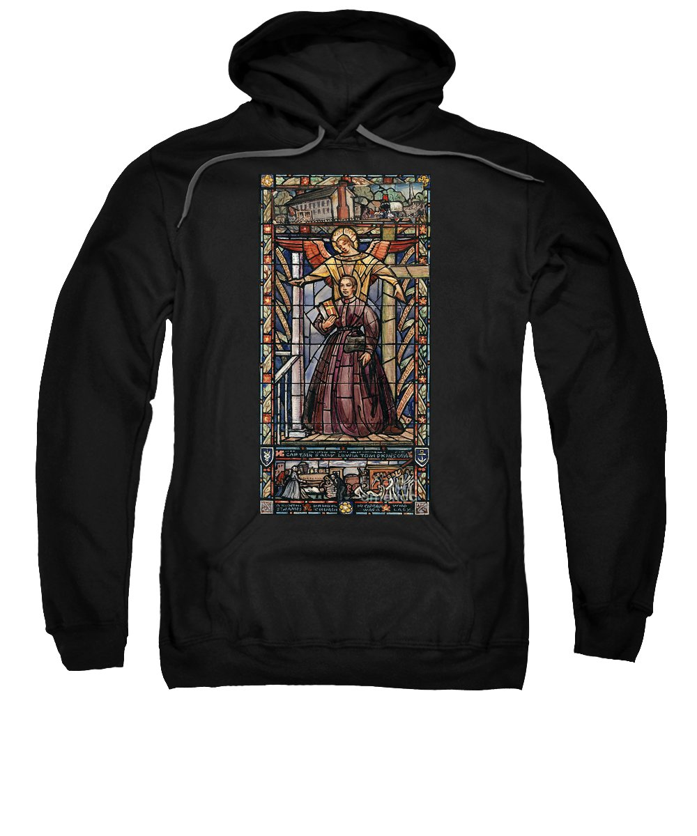 19th Century Sweatshirt featuring the painting Sally Tompkins (1833-1916) by Granger
