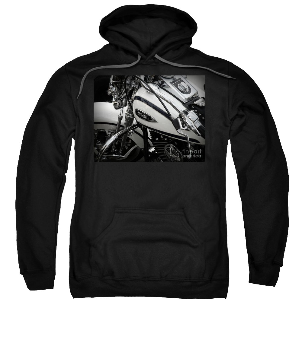 Harley Davidson Sweatshirt featuring the photograph 1 - Harley Davidson Series by Lainie Wrightson