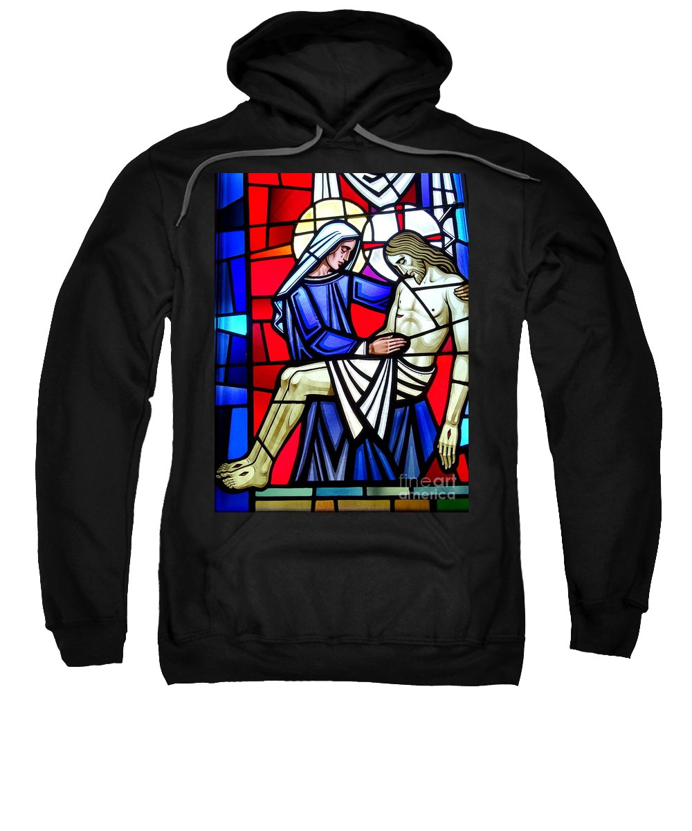 Stained Glass Sweatshirt featuring the photograph A Mothers Love by Ed Weidman