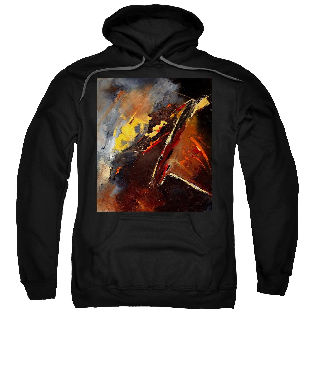 Abstract Sweatshirt featuring the painting Abstract 12 by Pol Ledent