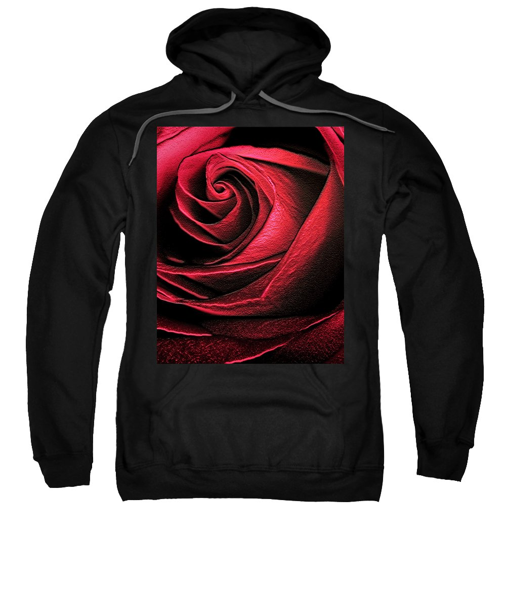 Abstract Sweatshirt featuring the photograph Abstract Rose by Marilyn Hunt