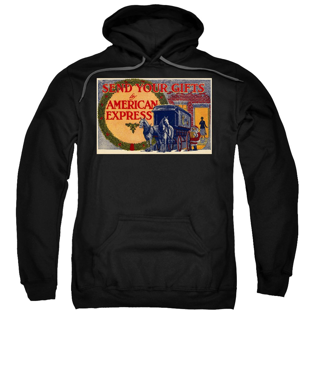 1917 Sweatshirt featuring the photograph American Express Shipping by Granger