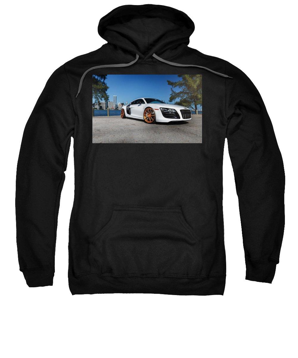 Audi R8 Sweatshirt featuring the digital art Audi R8 by Bert Mailer