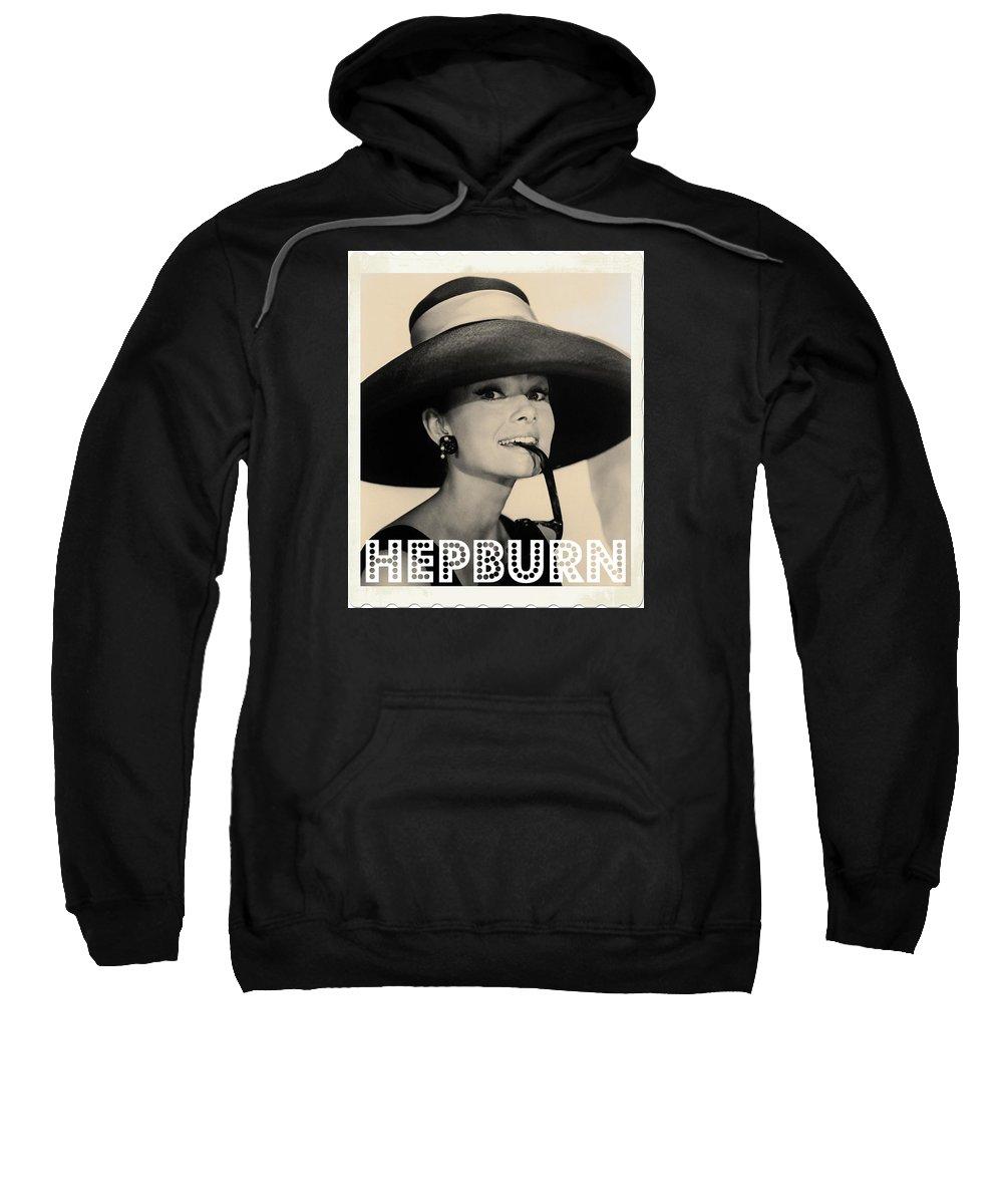 Hollywood Sweatshirt featuring the photograph Audrey Hepburn by John Springfield