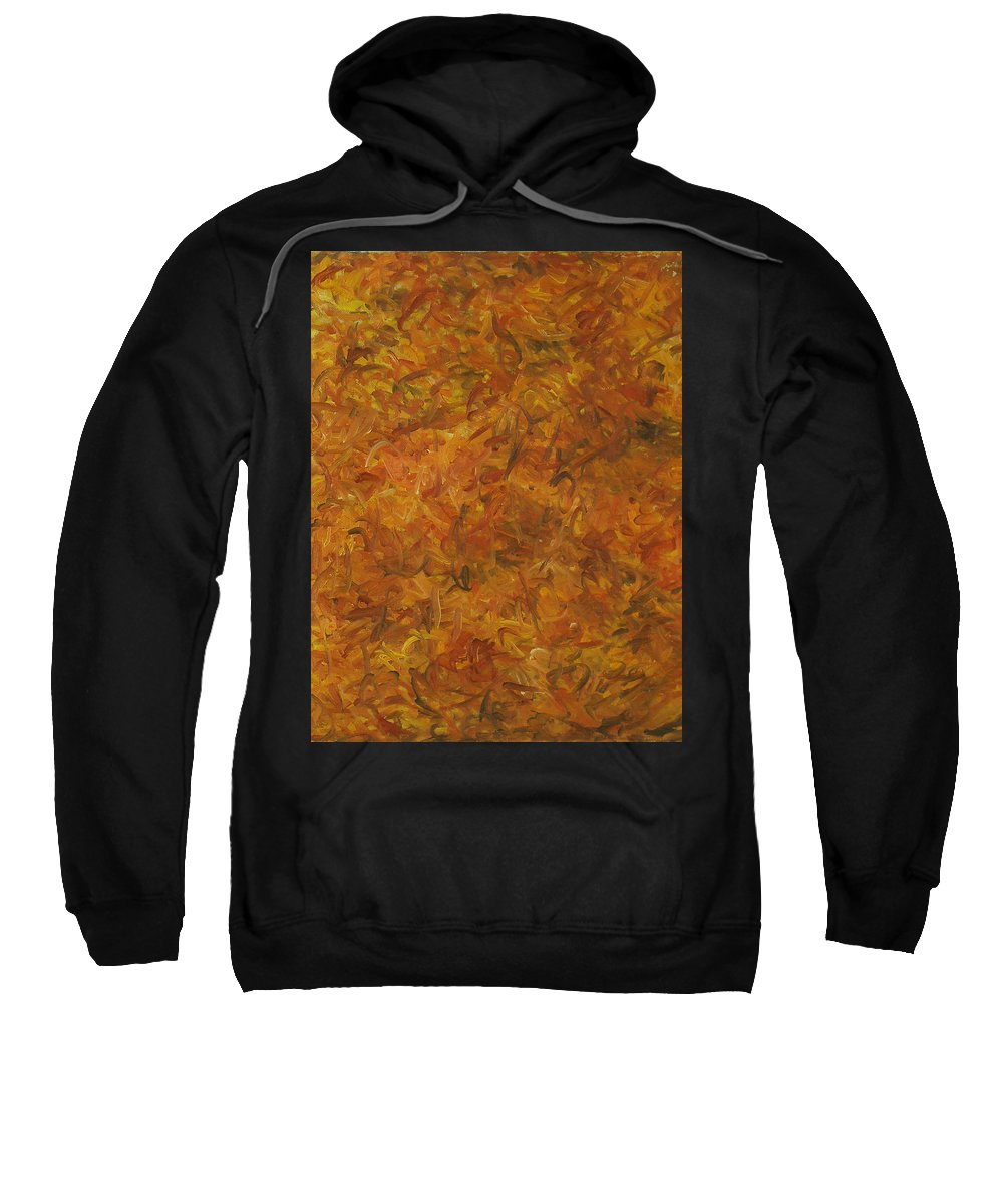 Sunlight Sweatshirt featuring the painting Autumn Leaves by Robert Nizamov