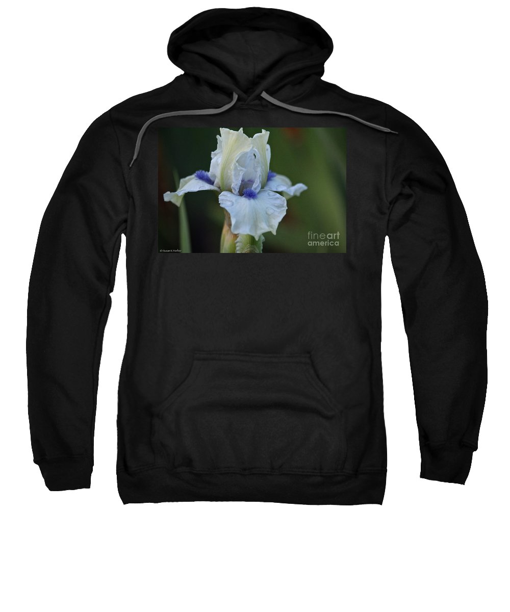Flower Sweatshirt featuring the photograph Barely Blue Beard by Susan Herber