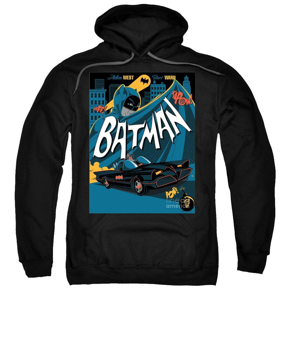 Batman Art Sweatshirt featuring the digital art Batman Art by Hannah Dori