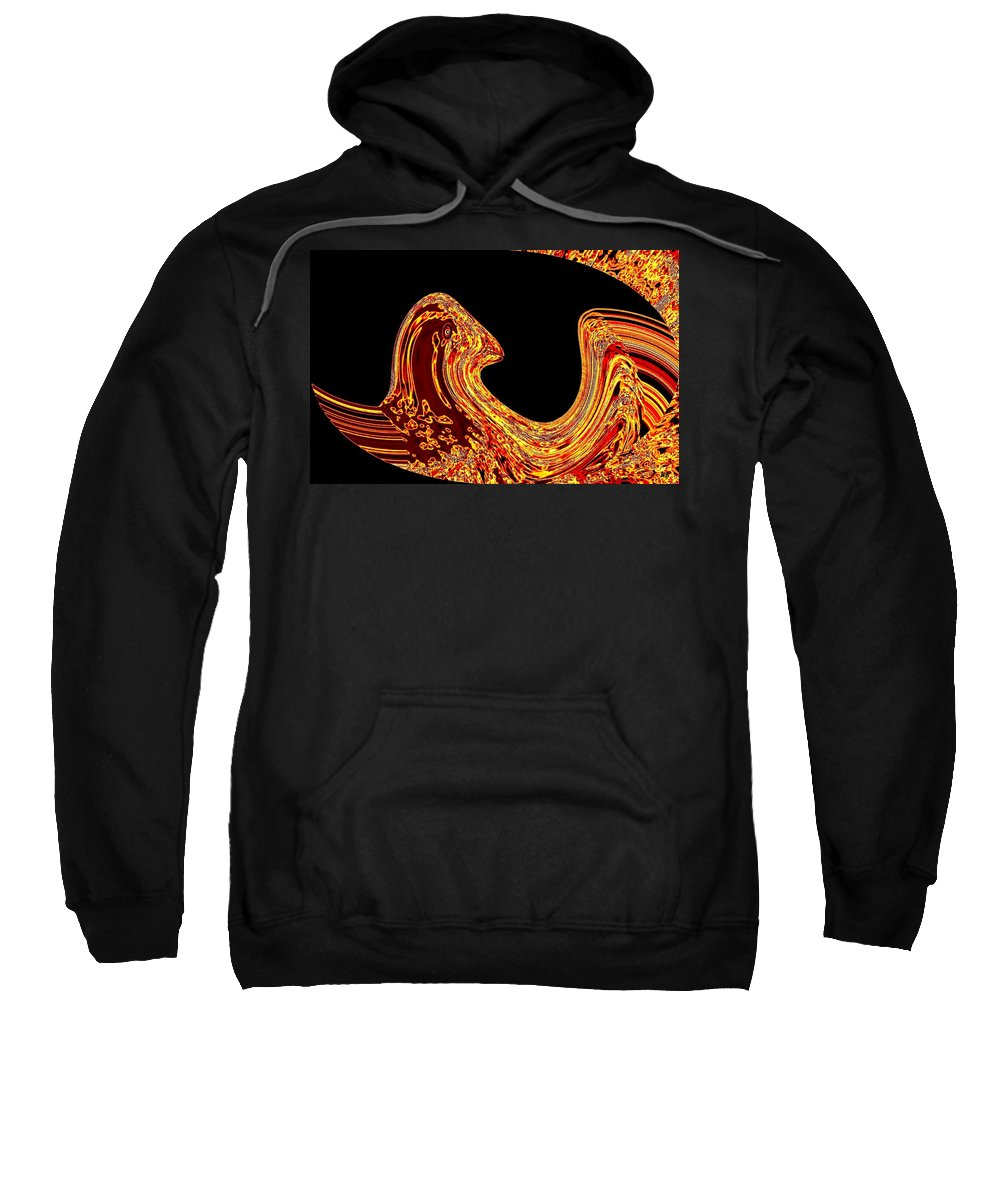 Golden Eagle Sweatshirt featuring the digital art Birth Of A Golden Eagle by Will Borden