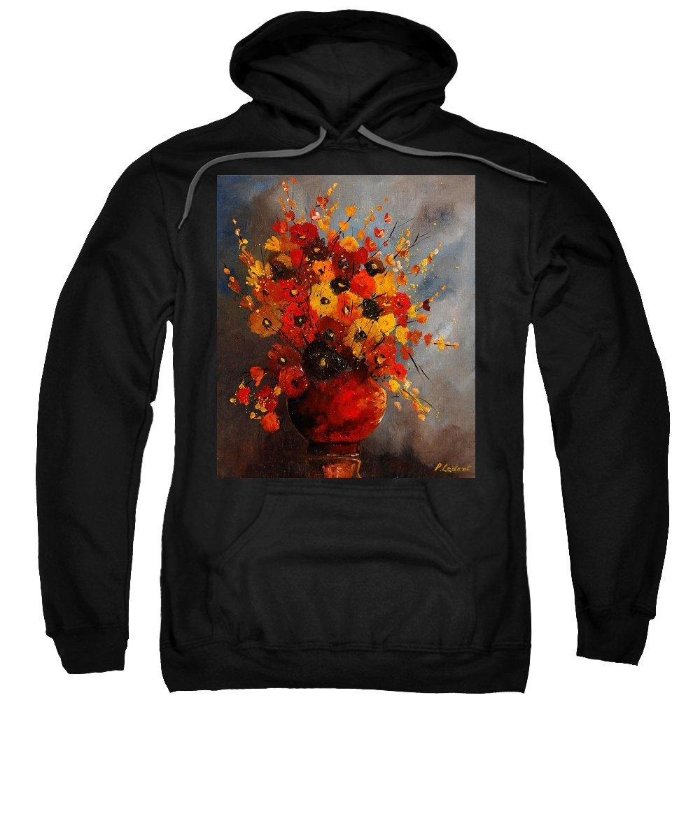 Flowers Sweatshirt featuring the painting Bunch 0708 by Pol Ledent