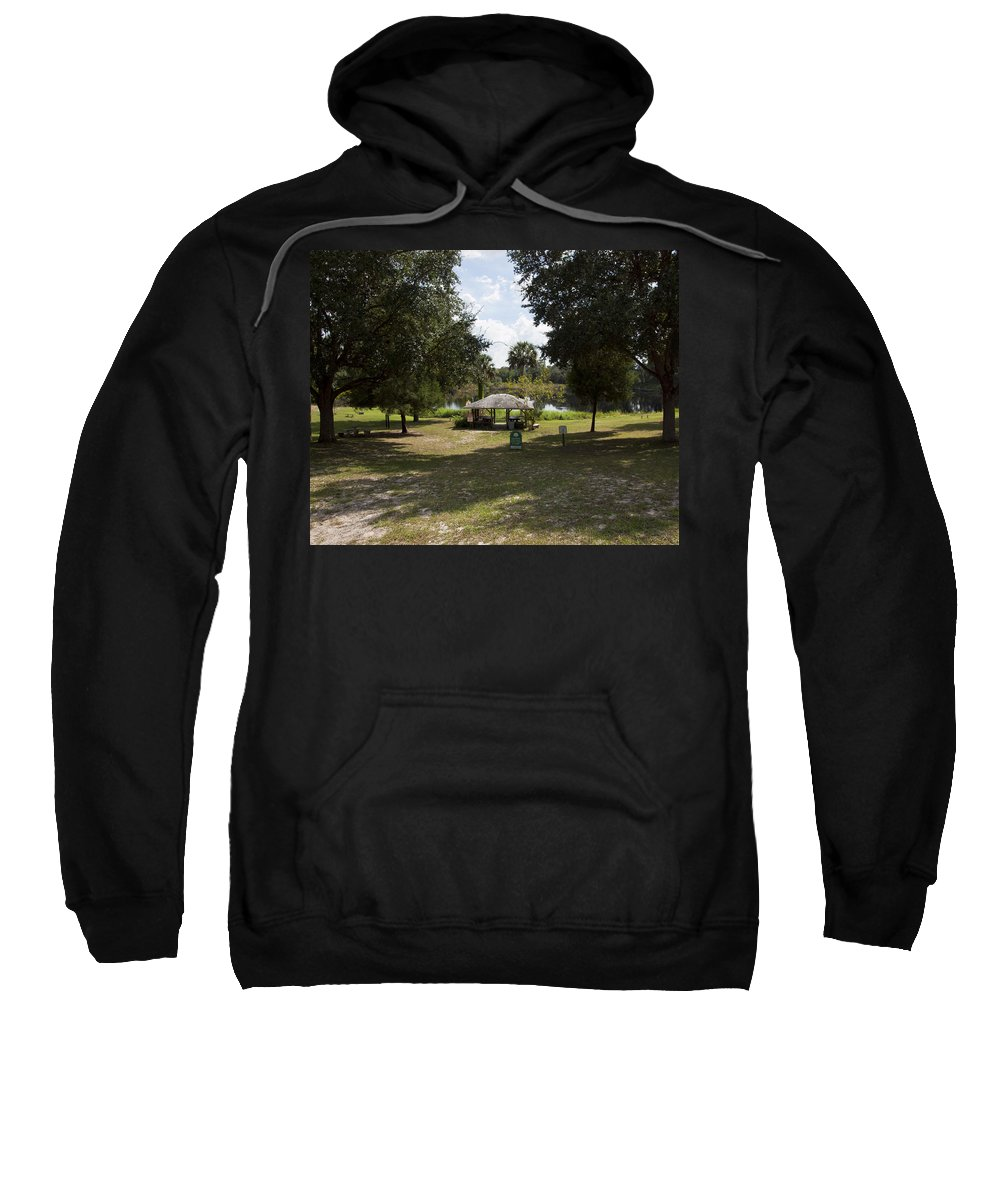Cassadaga Sweatshirt featuring the photograph Cassadaga Spiritualist Camp In Florida by Allan Hughes