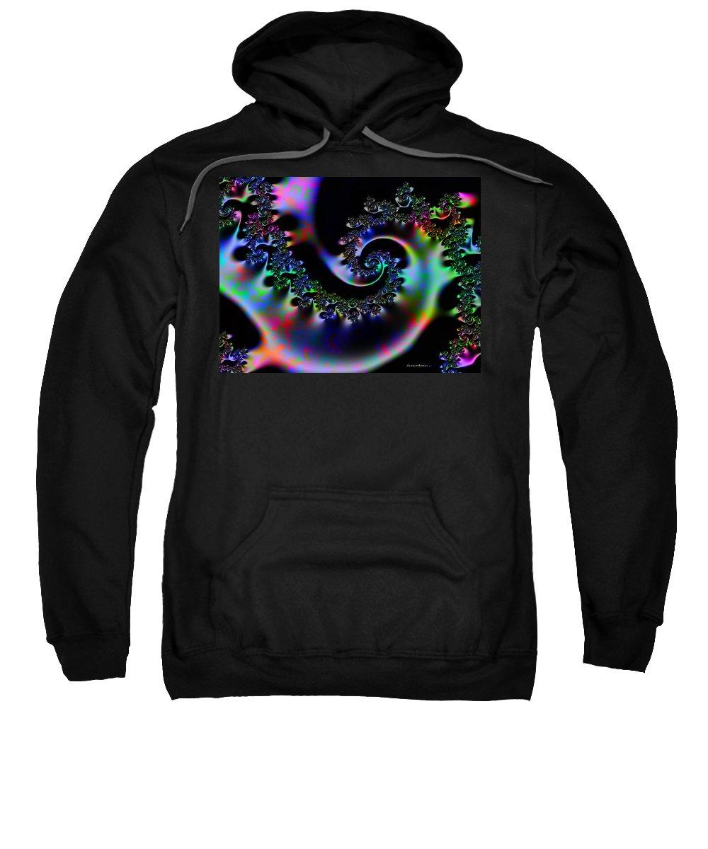 Design Sweatshirt featuring the digital art Cassie's World by Robert Orinski