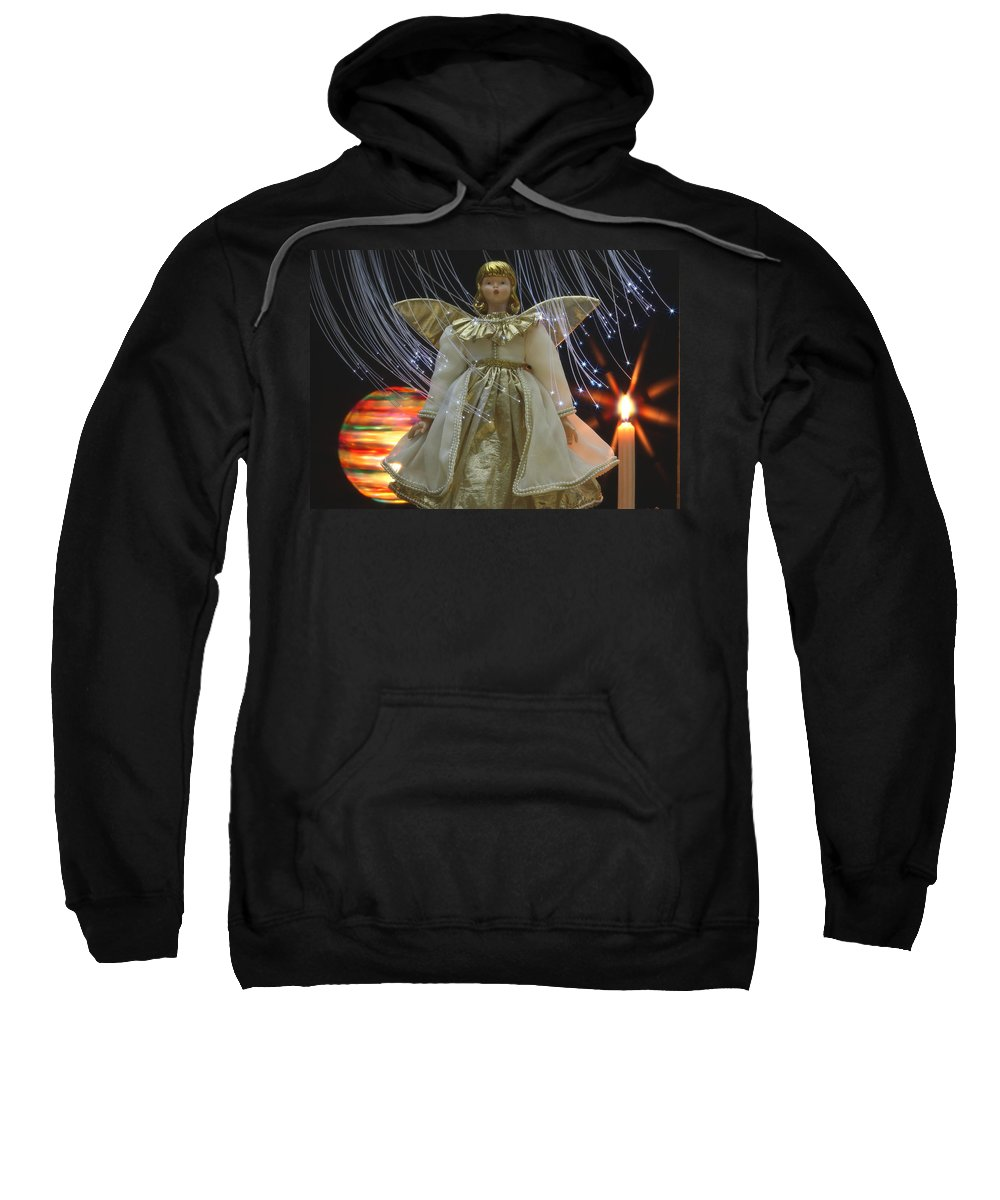 Angel Sweatshirt featuring the photograph Christmas-angel by Manfred Lutzius