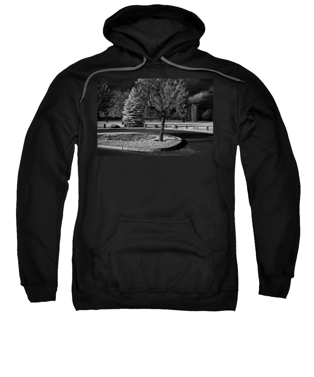 Infrared Sweatshirt featuring the photograph City Beach In Infrared by Lee Santa