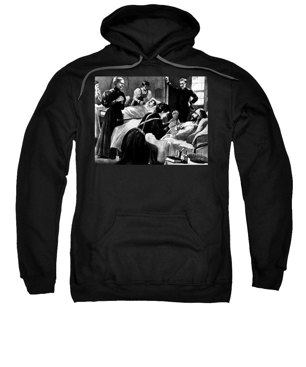 1898 Sweatshirt featuring the photograph Clara Barton (1821-1912) by Granger