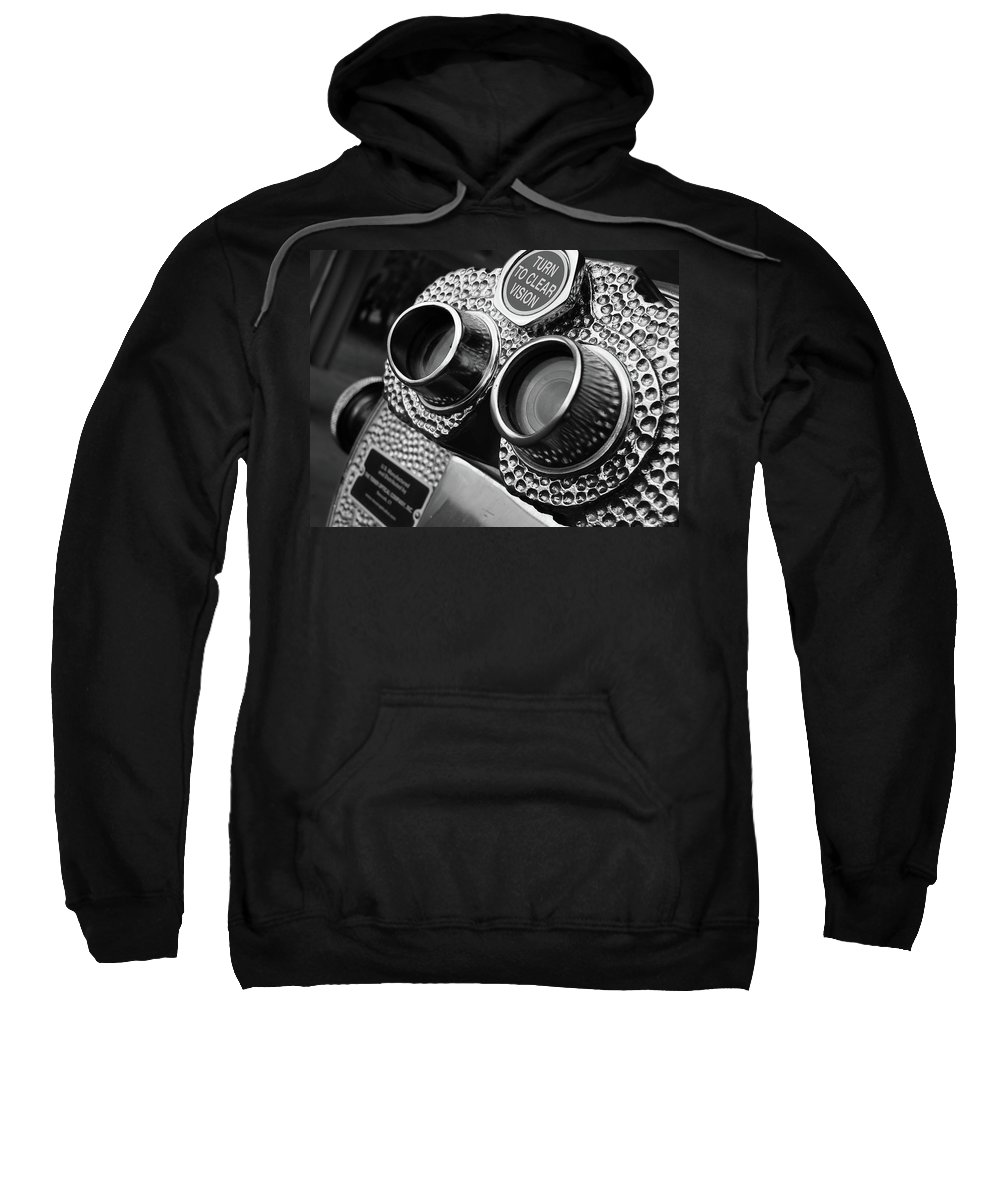 Black Sweatshirt featuring the photograph Clear Vision by Angela Wright