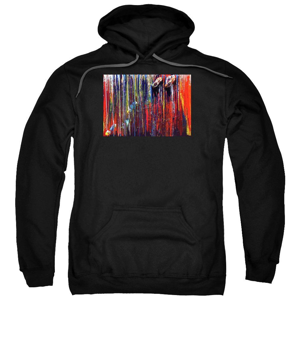 Fusionart Sweatshirt featuring the painting Climbing the Wall by Ralph White