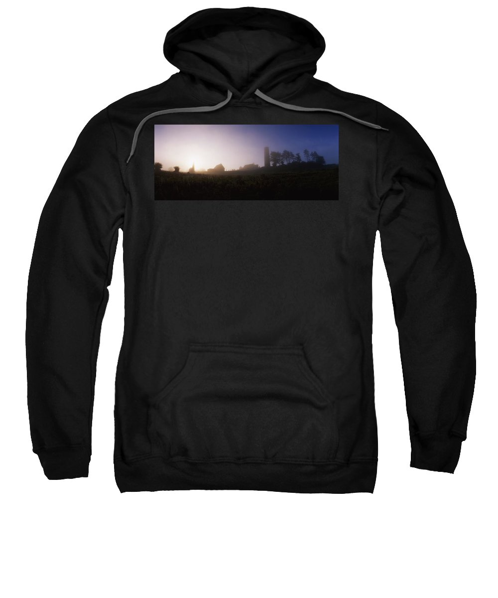 6th Century Sweatshirt featuring the photograph Clonmacnoise Monastery, County Offaly by The Irish Image Collection