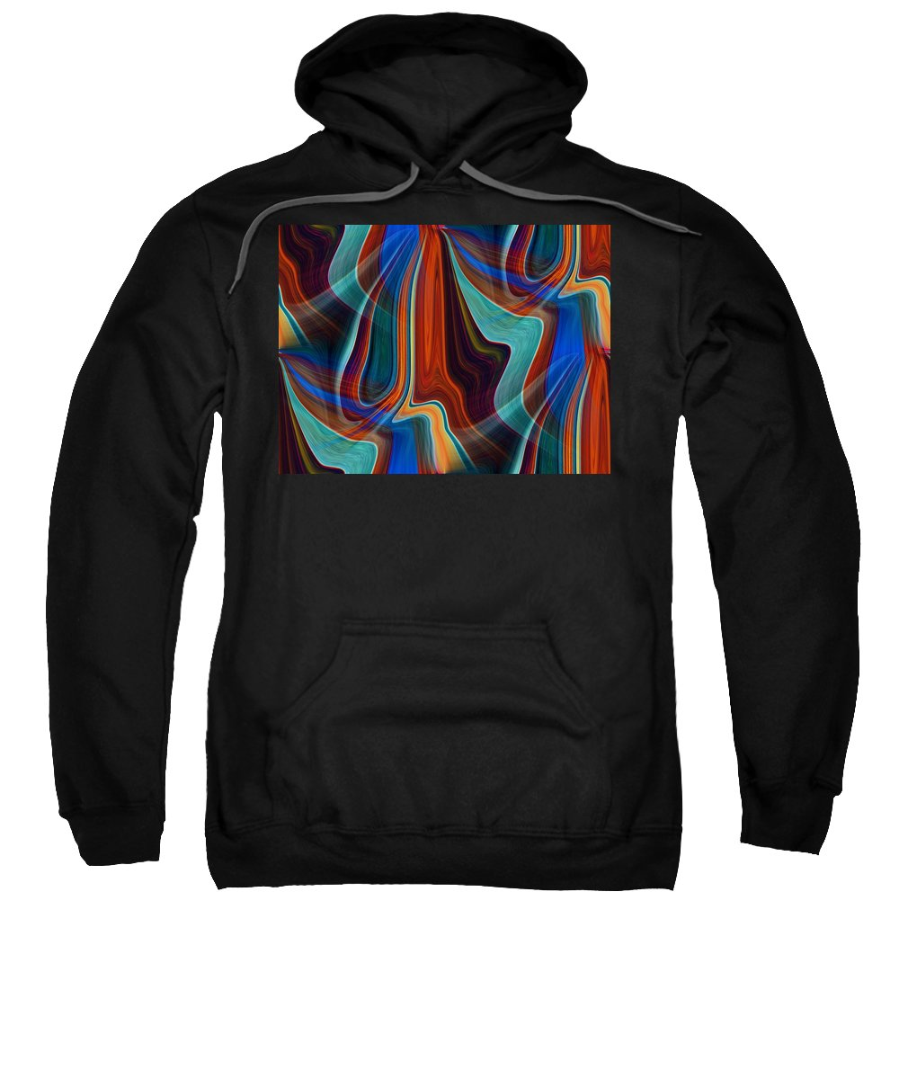 Colors Sweatshirt featuring the digital art Color Me Abstract by Tim Allen