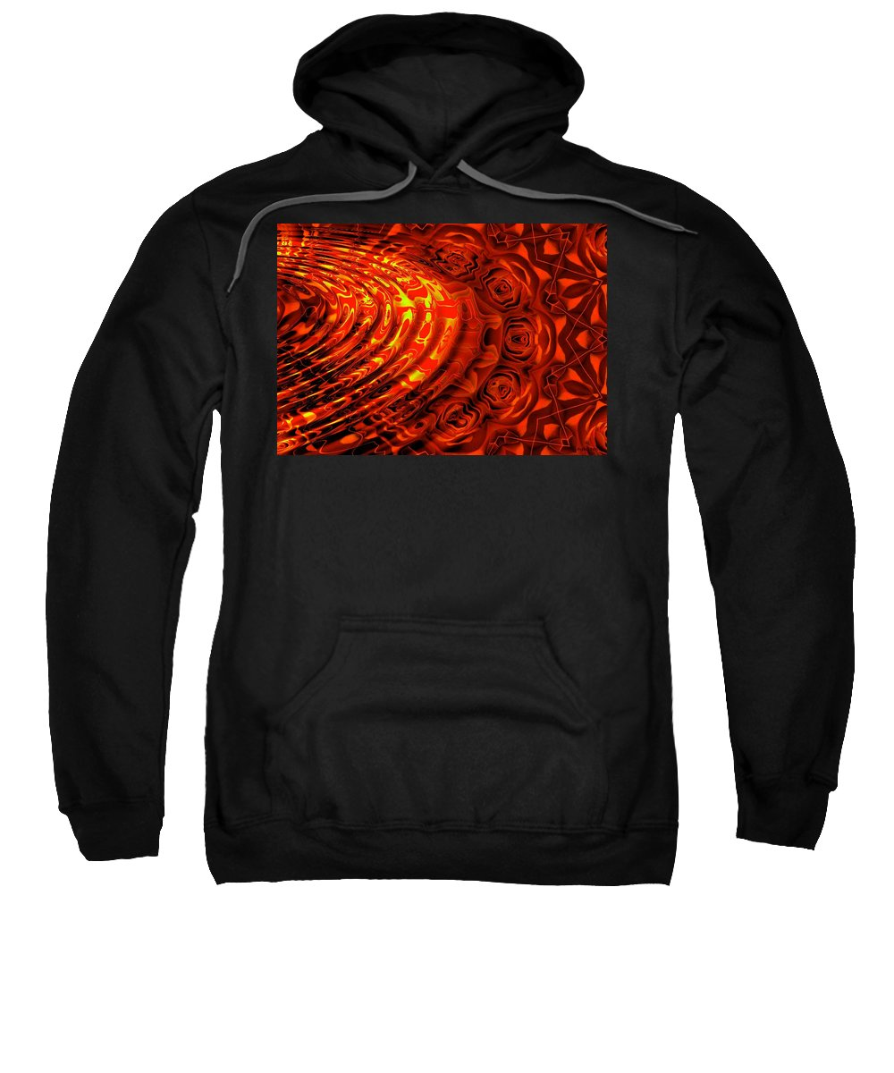 Wave Sweatshirt featuring the digital art Copper Rose by Robert Orinski