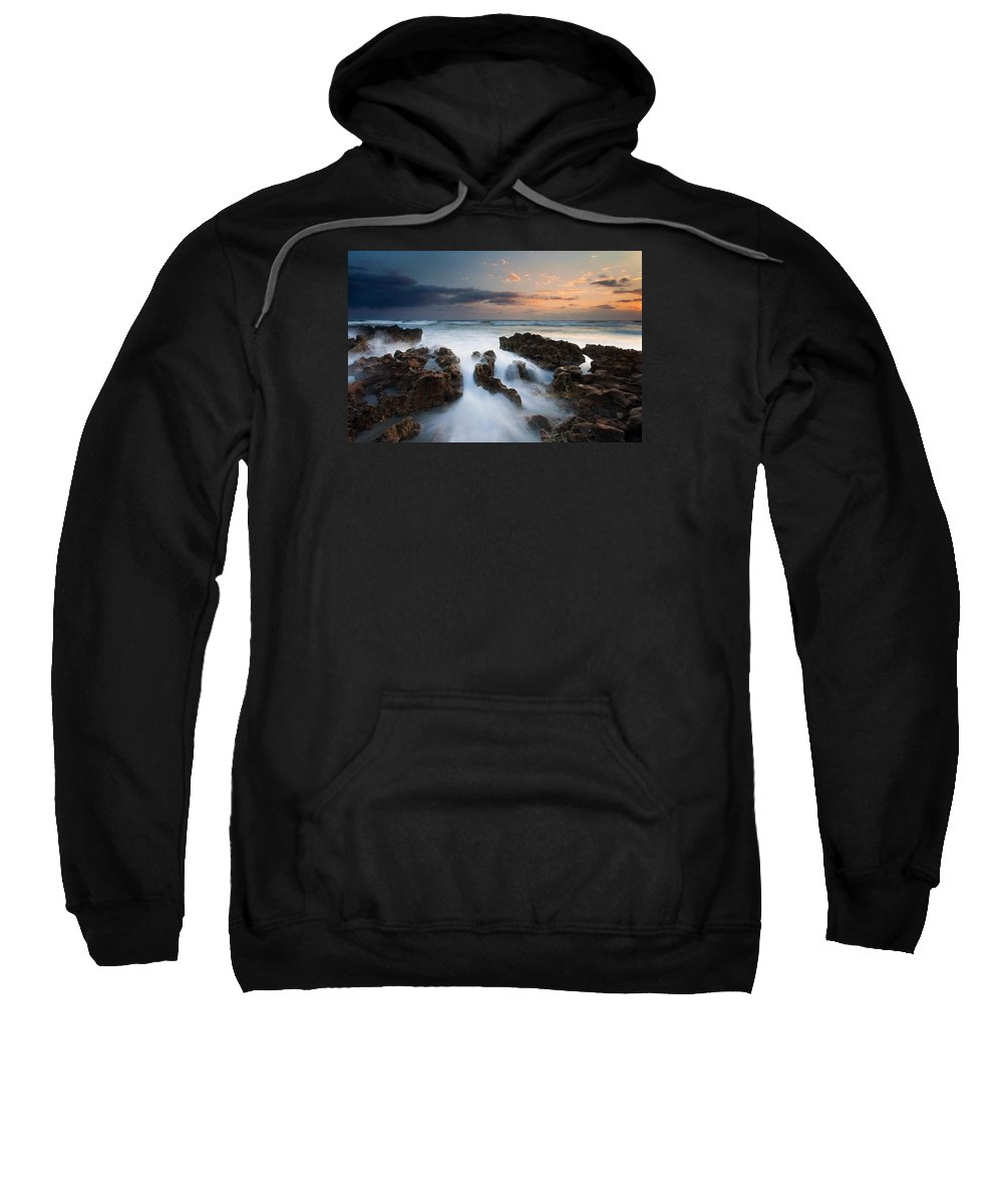 Coral Cove Sweatshirt featuring the photograph Coral Cove Dawn by Mike Dawson