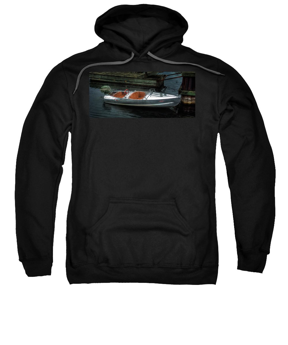 Aluminum Sweatshirt featuring the photograph Cute Boat - 1948 Feather Craft by John Herzog