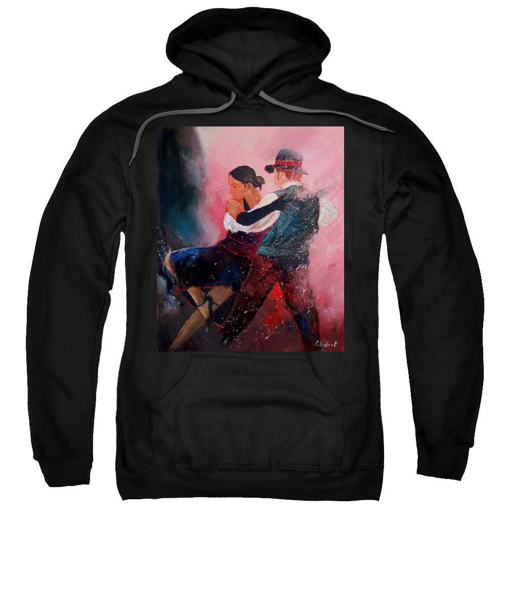 Music Sweatshirt featuring the painting Dancing Tango by Pol Ledent