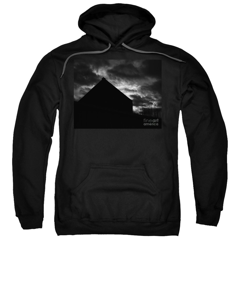 Black And White Sweatshirt featuring the photograph Early Morning by Peter Piatt