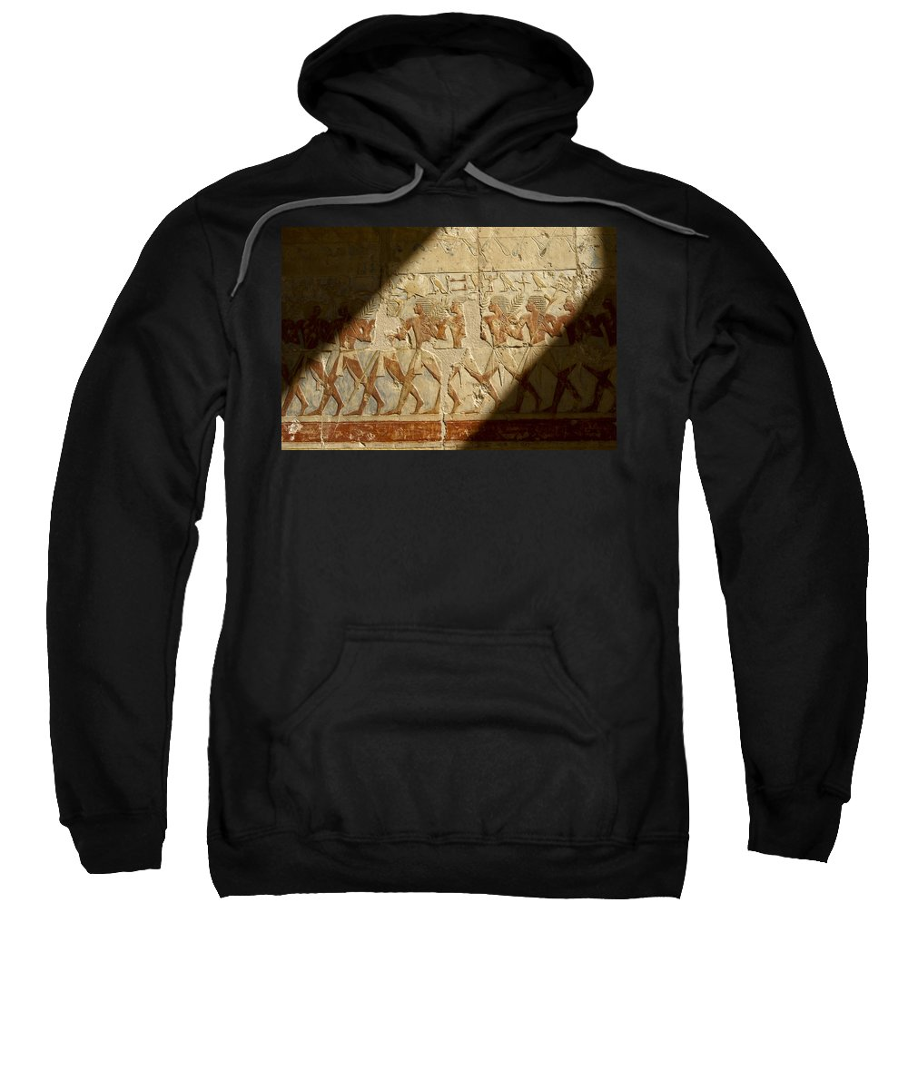 Egypt Sweatshirt featuring the photograph Egyptian Relief by Michele Burgess
