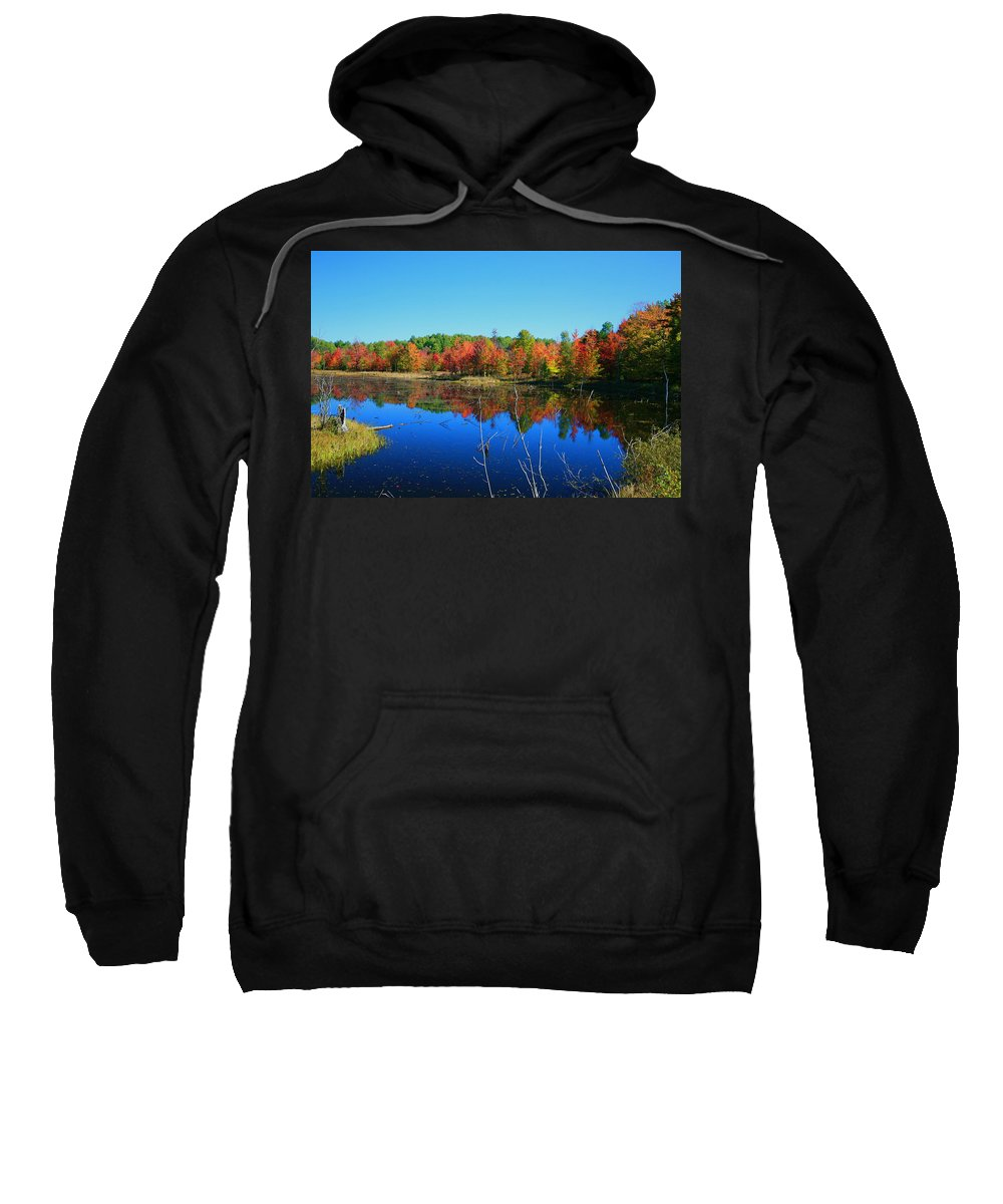 Fall Sweatshirt featuring the photograph Fall Fire Works by Robert Pearson