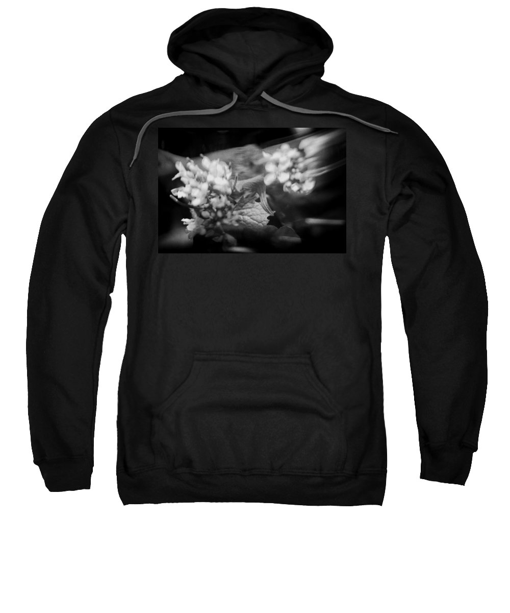 Blacj And White Sweatshirt featuring the photograph flowers in Motion by Scott Wyatt