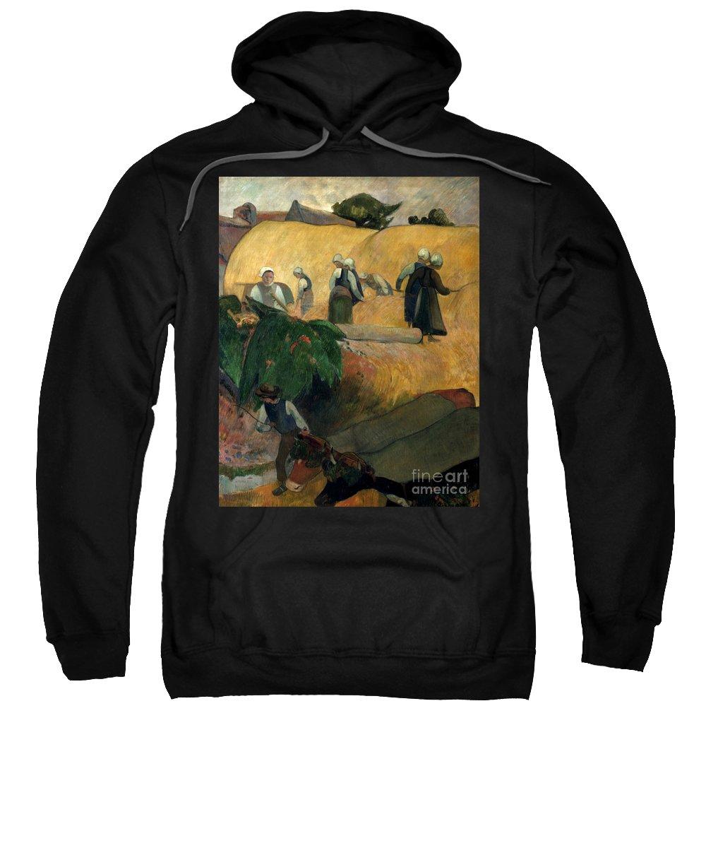 1889 Sweatshirt featuring the photograph Gauguin: Breton Women by Granger