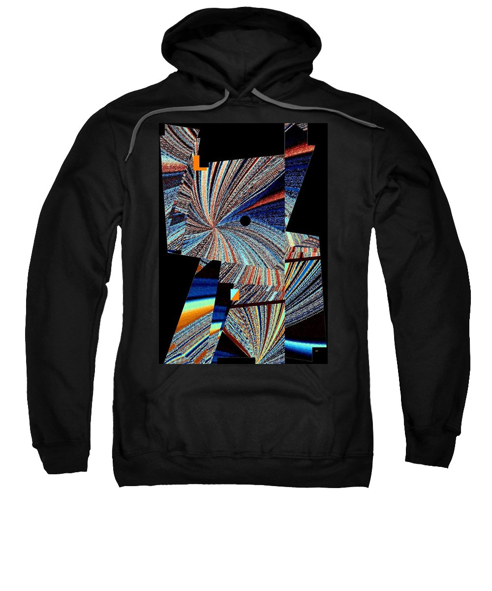 #geometricabstract1 Sweatshirt featuring the digital art Geometric Abstract 1 by Will Borden