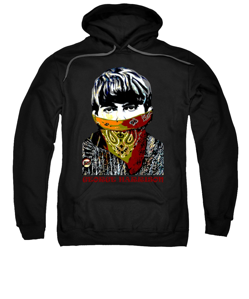 Banksy Sweatshirt featuring the photograph George Harrison wearing a face mask by RicardMN Photography