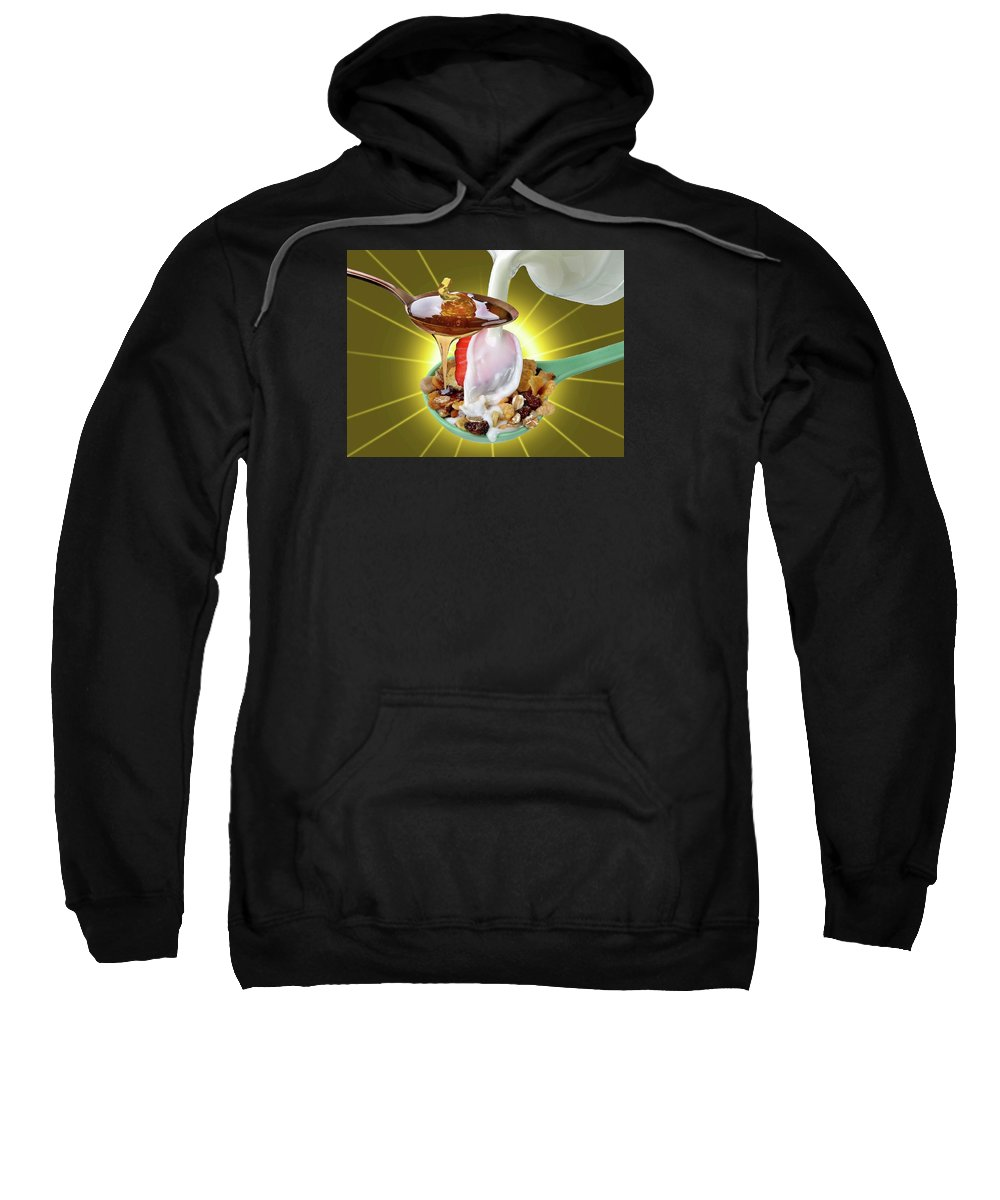 Chair.cup.coffee Sweatshirt featuring the photograph Quiet by Manfred Lutzius