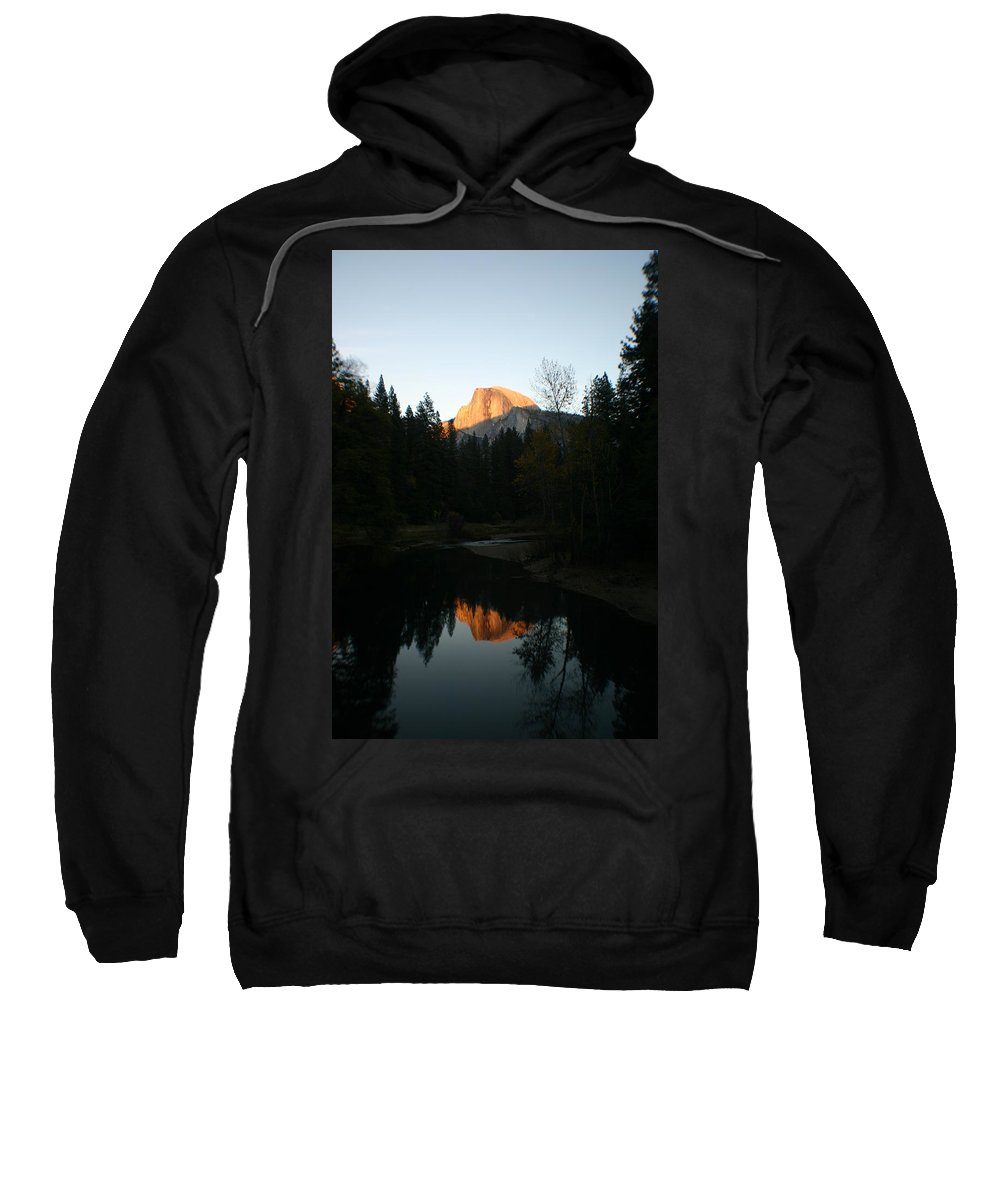 Half Dome Sweatshirt featuring the photograph Half Dome Sunset by Travis Day
