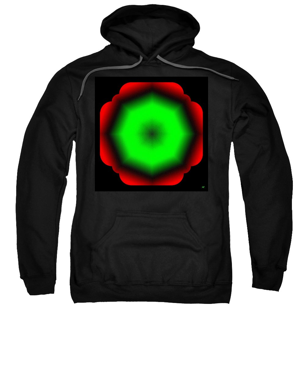 Abstract Sweatshirt featuring the digital art Harmony 26 by Will Borden