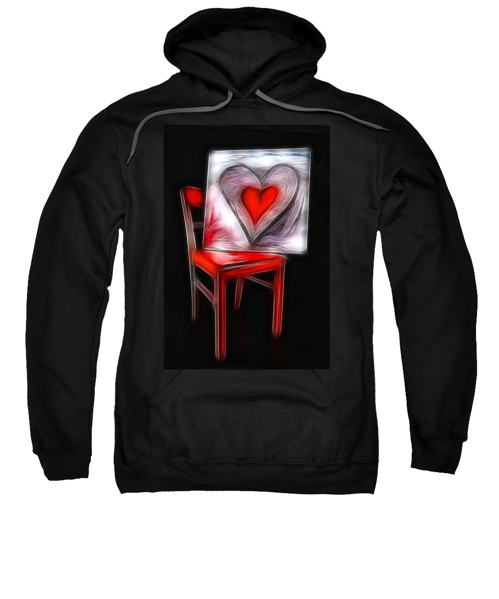 Heart Sweatshirt featuring the photograph Heart Int Heart by Manfred Lutzius