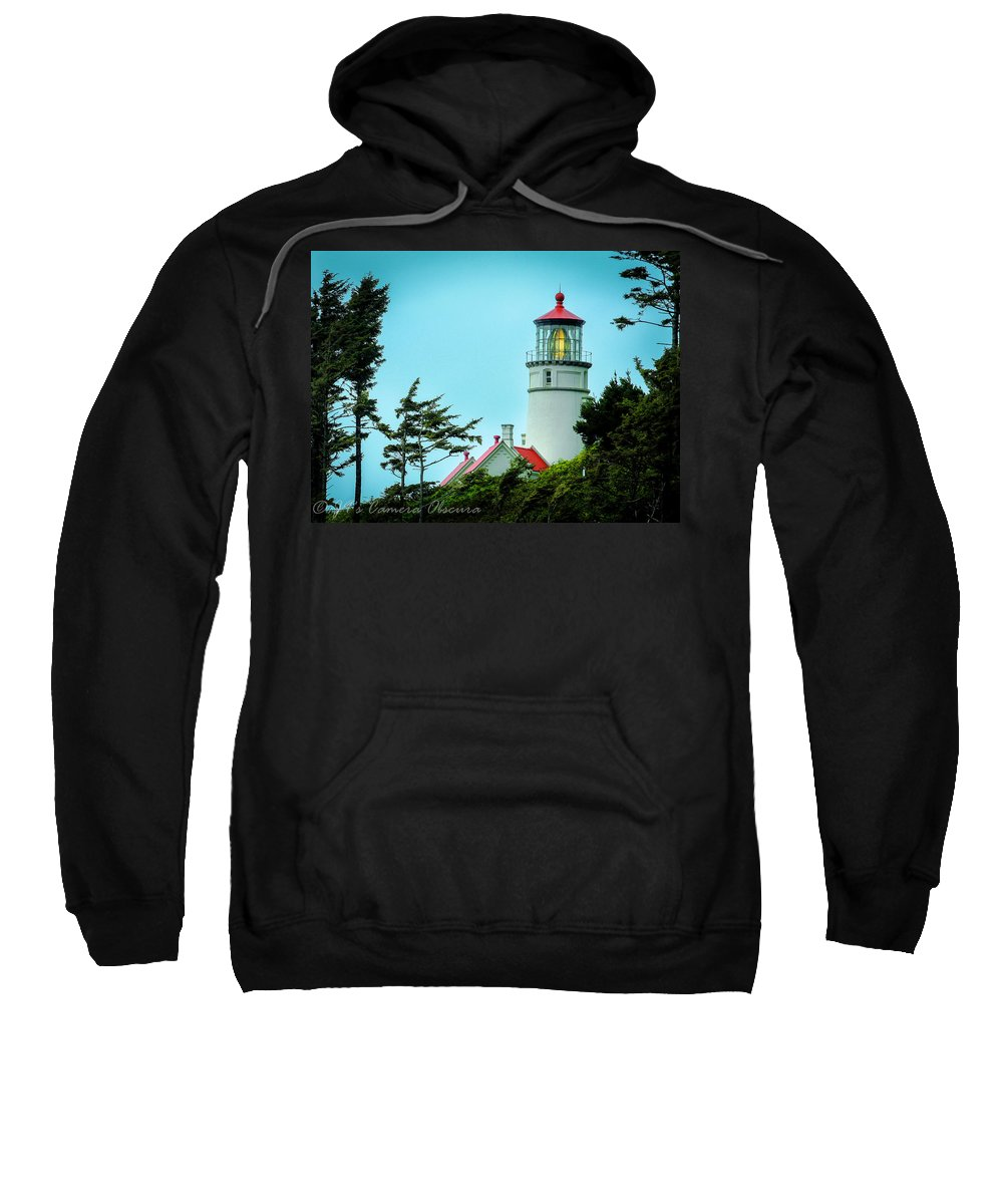 Heceta Lighthouse Sweatshirt featuring the photograph Heceta Lighthouse by Janine Moore