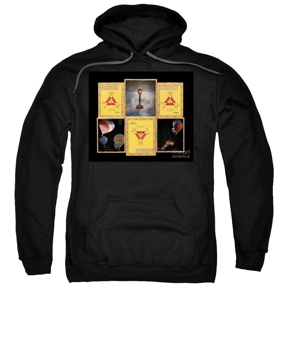 Cigar Boxes Sweatshirt featuring the mixed media High by Jaime Becker