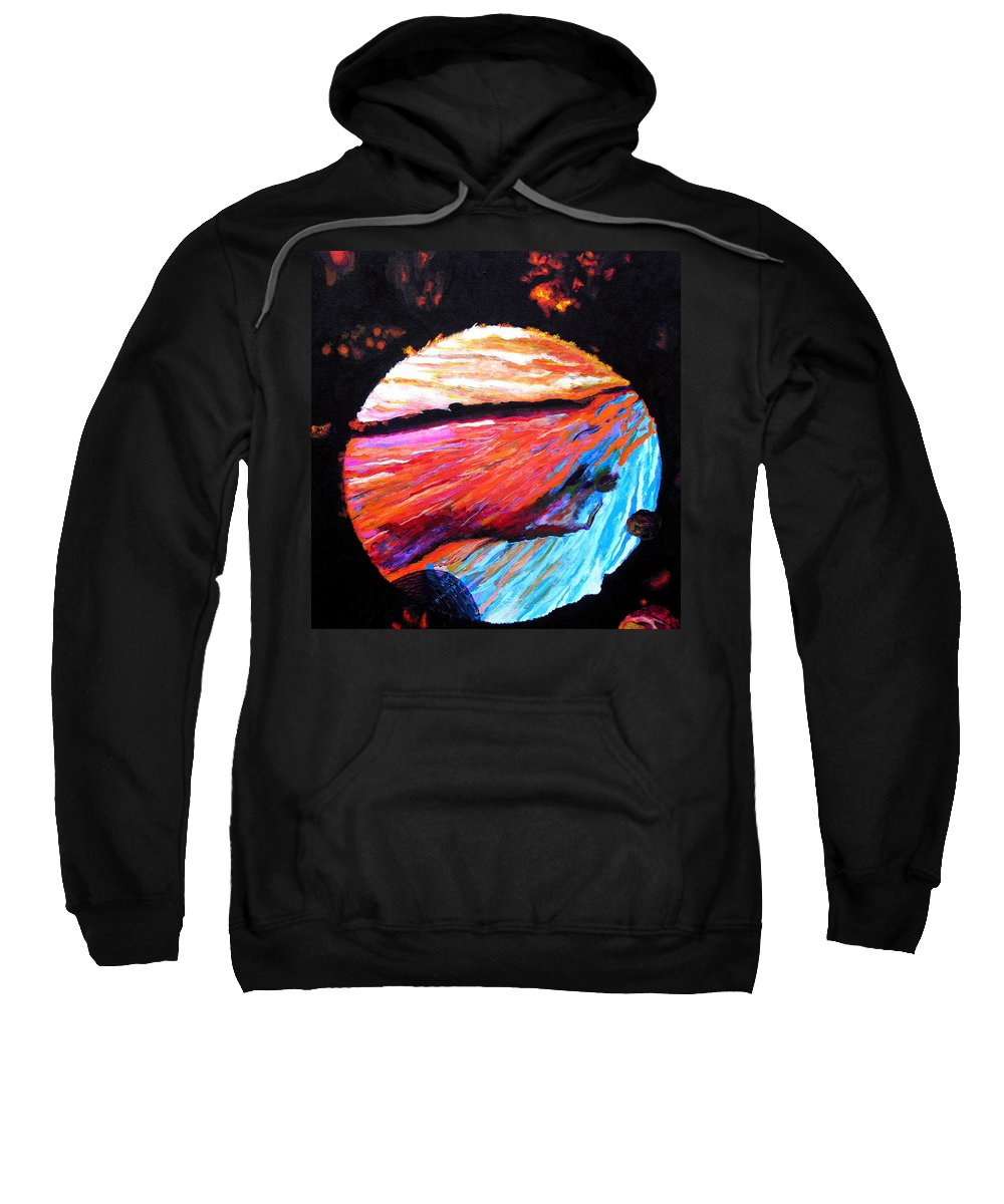 Abstract Sweatshirt featuring the painting Inspire Three by Stan Hamilton