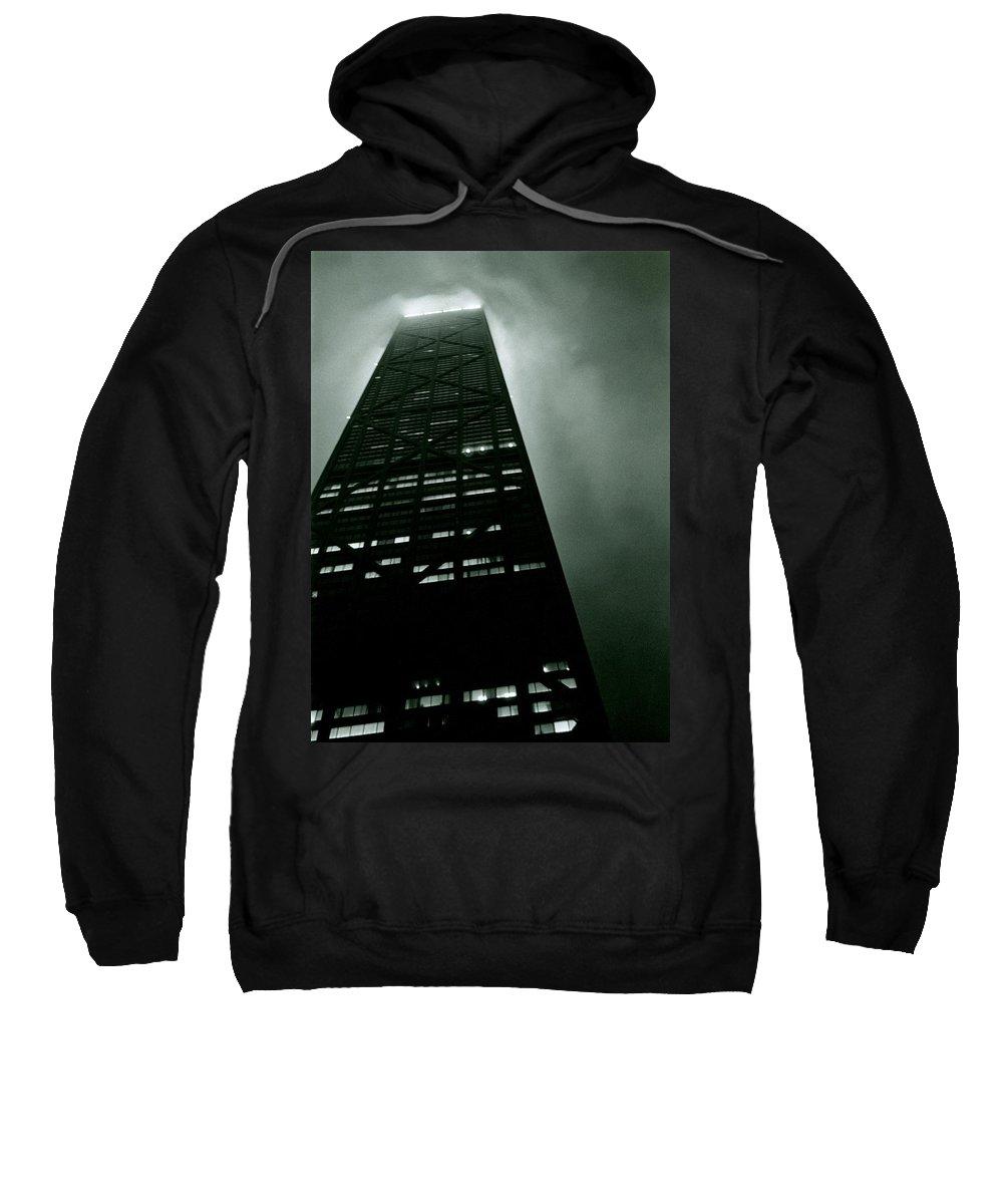 Geometric Sweatshirt featuring the photograph John Hancock Building - Chicago Illinois by Michelle Calkins