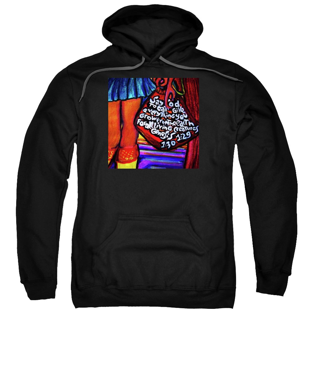Afternoon By Pablo 2 Sweatshirt featuring the painting Kunsthaus by Nila Poduschco