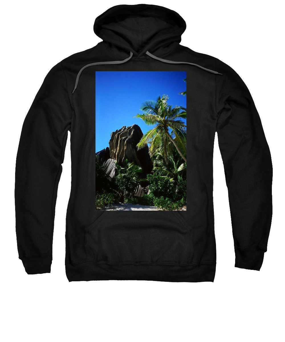 Indian Sweatshirt featuring the photograph La Digue Island - Seychelles by Juergen Weiss