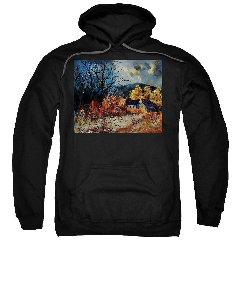 Landscape Sweatshirt featuring the painting Landscape 56011031 by Pol Ledent