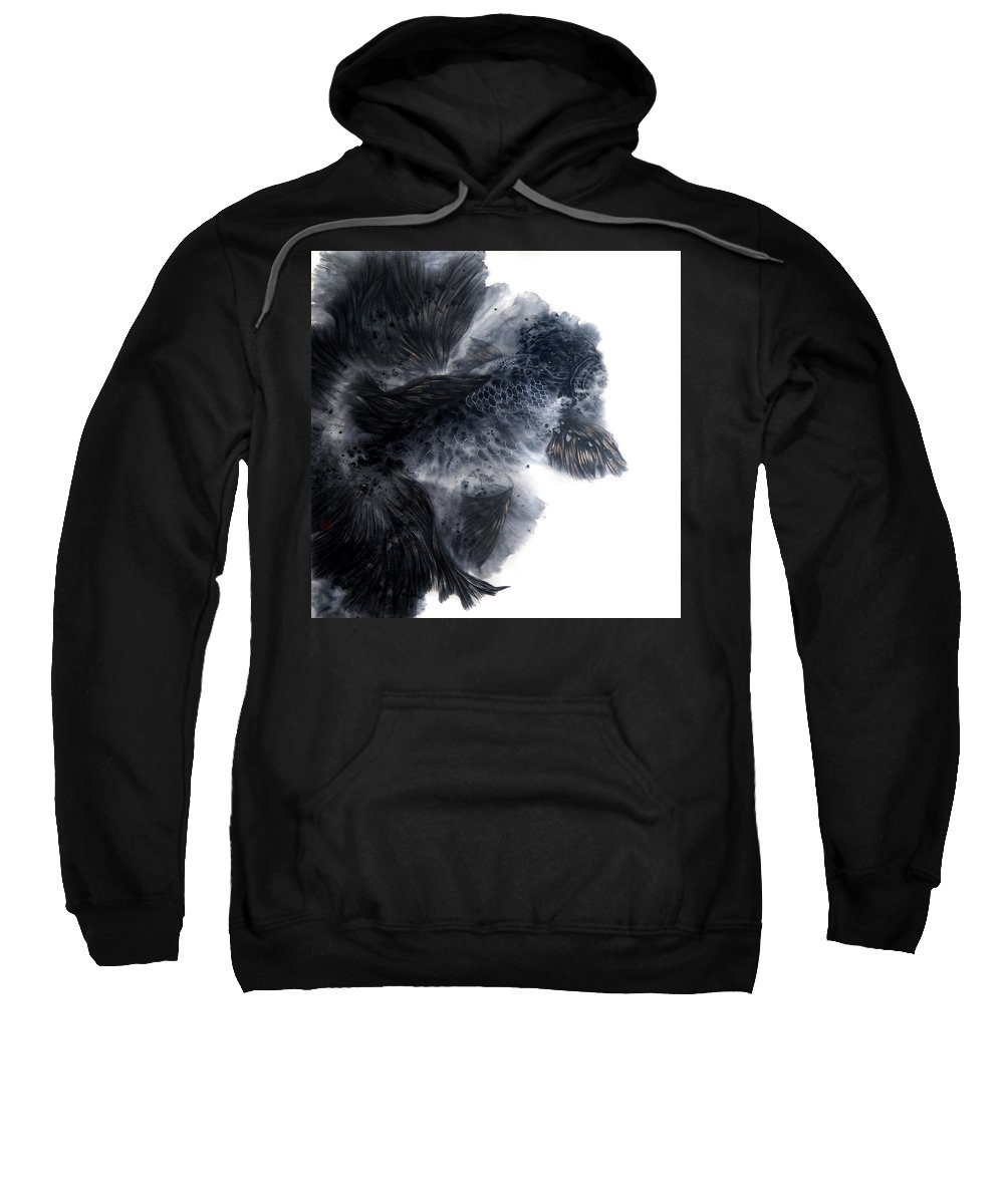 Leisurely Sweatshirt featuring the painting Leisurely And Carefree I by Chien-yu Chen