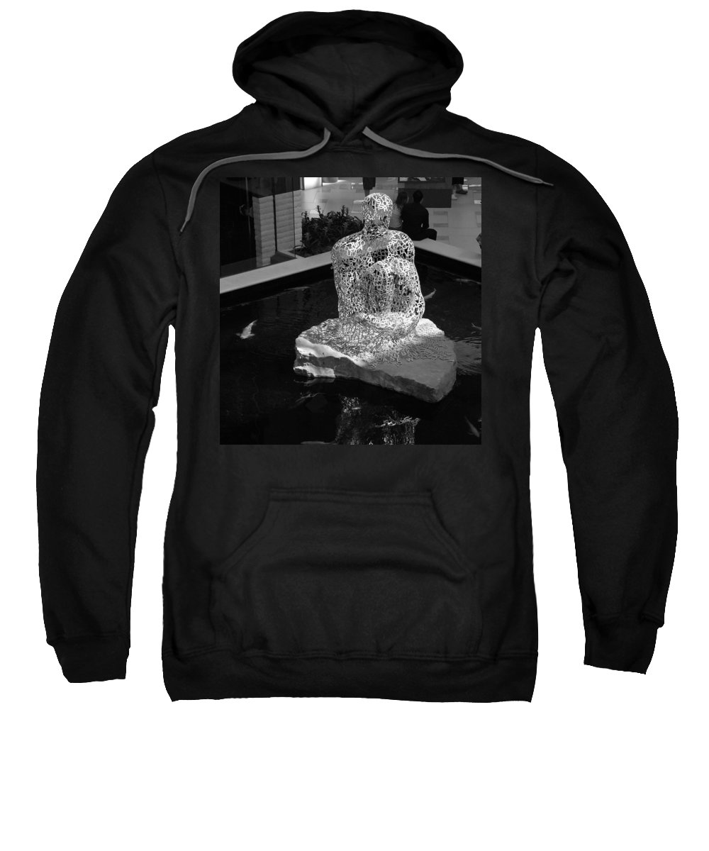 Black And White Sweatshirt featuring the photograph Letterman By Coy by Rob Hans