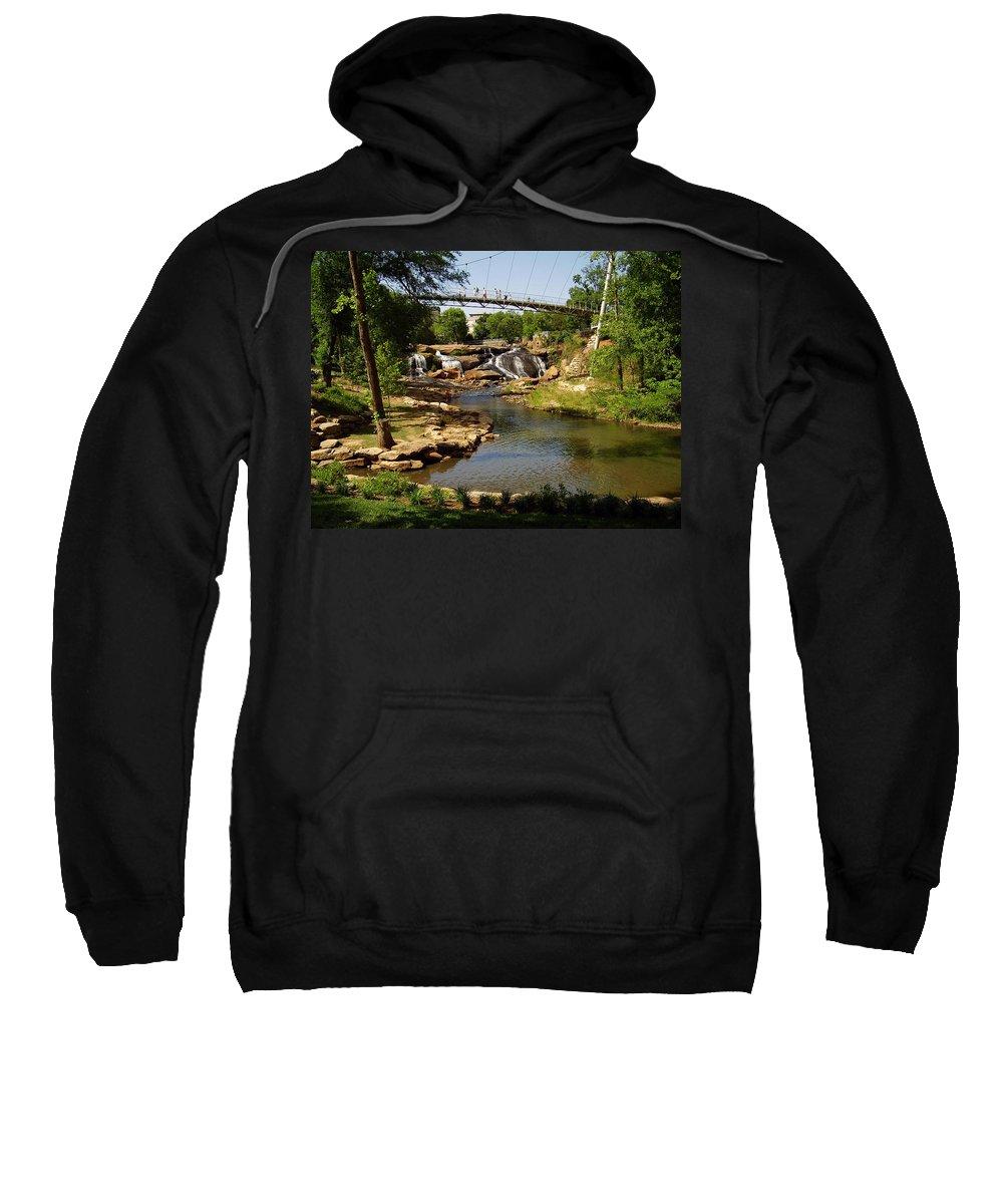 Liberty Bridge Sweatshirt featuring the photograph Liberty Bridge by Flavia Westerwelle